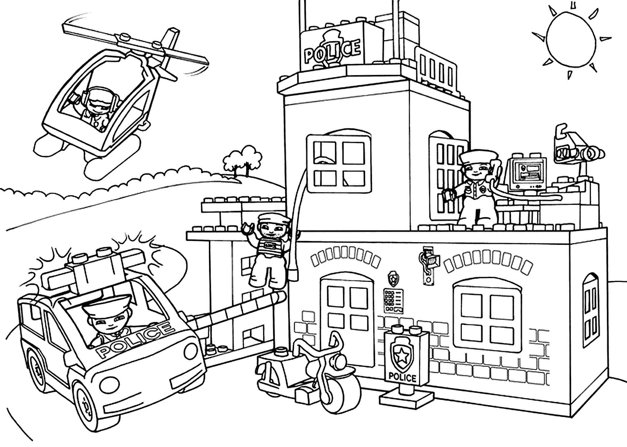 Lego City Coloring Pages Free Printable Ausmalbilder Ausmalen Malvorlagen Zum Ausdrucken