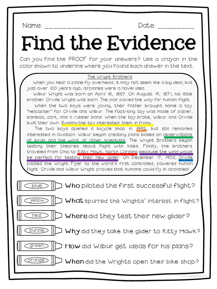 4th Grade free 4th grade reading worksheets : FREE sampler of Super Text Detectives: Find the Text Evidence! I ...