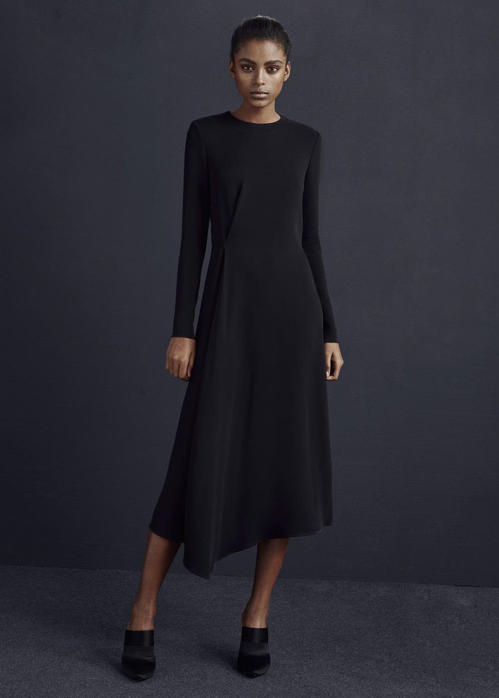 Premium - kleid mit überkreuztem detail - Damen