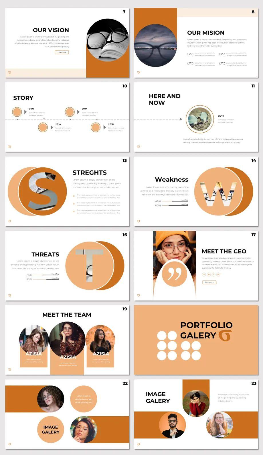 Minimalist PowerPoint Template. 30 Modern Slides