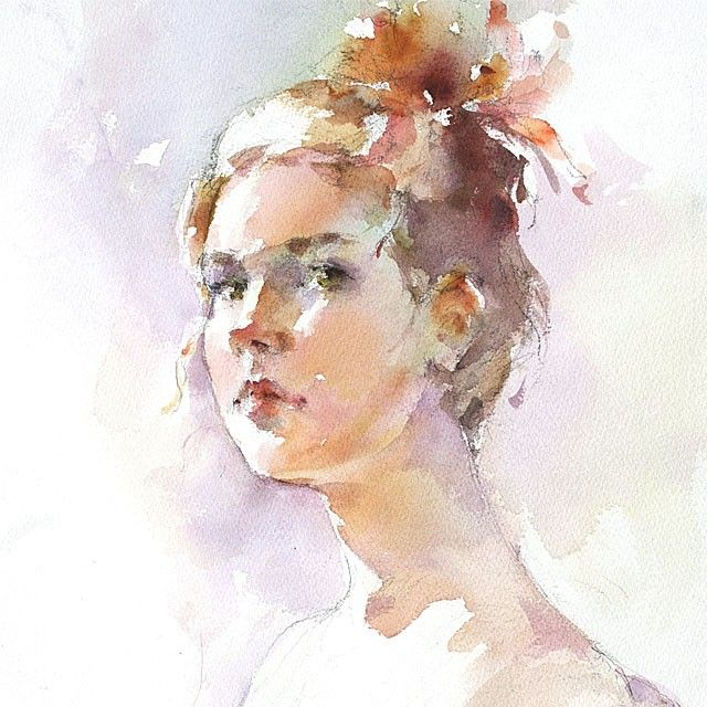 Lightbox Watercolor Portraits Portrait Painting Watercolor Art