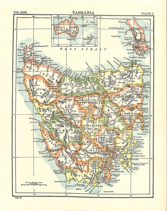 old map of tasmania from 1904 old map of france from the 1920s printableimages oldmaps antiquemaps vintageimages