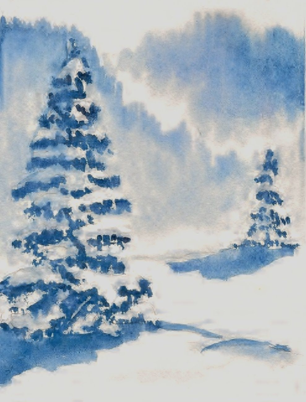 Paint your own Christmas Cards Wet in Wet | cards - watercolors ...
