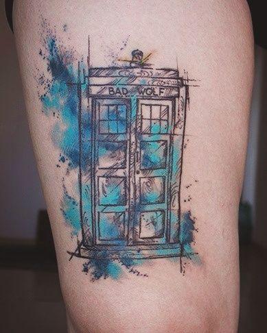 f2e70e708 TARDIS bad wolf tattoo | Tattoo Ideas | Doctor who tattoos, Doctor ...