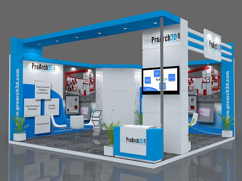 D Exhibition Layout : Exhibition stall d model free the downloaded package