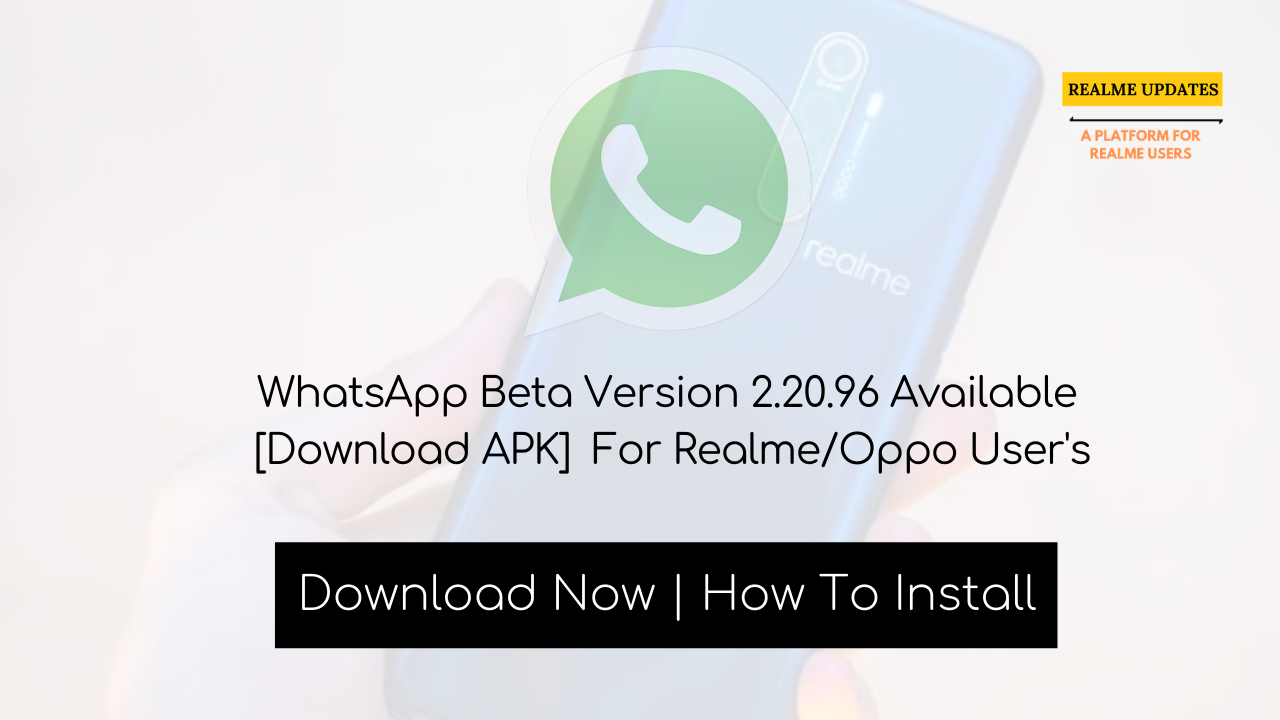 Hey, Realme User's What's Up!  WhatsApp Beta Version 2.20.96 Available [Download APK]  More Apps Updates News Will Be Cover Here  #REALMEUPDATES #REALME #WHATSAPP #WHASTAPPBETA #REALMEX2PRO #REALMEX2 #REALMEXT #REALMEXT730G #REALME5PRO #REALME3PRO #REALMEX #REALMEUPDATES_NET #DARKMODE #REALMEUI #REALMEUIUPDATE #REALME6I #OPPORENO2 #OPPOFINDX #REALME6 #REALME6PRO #REALMEC3 #REALME3I #REALME5S #COLOROS6 #COLOROS7 #REALMETIPS #REALMEVSXIAOMI #REALME5I #REALMEX50PRO5G  #REALME3 #REALMEBUDS2