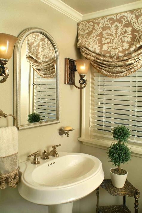 Stores et cantonniere habillage de fenetres salle de bain decoration meubles quebec canada - Store fenetre salle de bain ...
