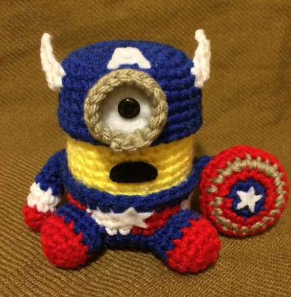 Captain America Minion PDF Pattern Crochet for Amigurumi Doll Plush ...