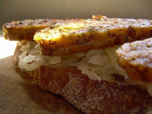 Tempeh Sauerkraut Sandwich