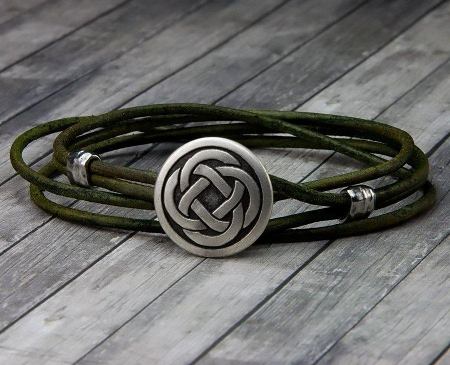 bracelet cuir homme celtique