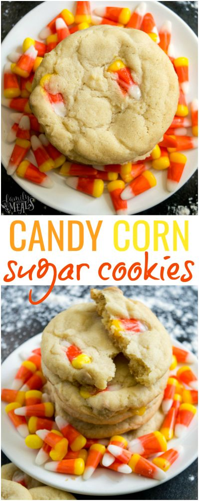 Candy Corn Sugar Cookie Recipe