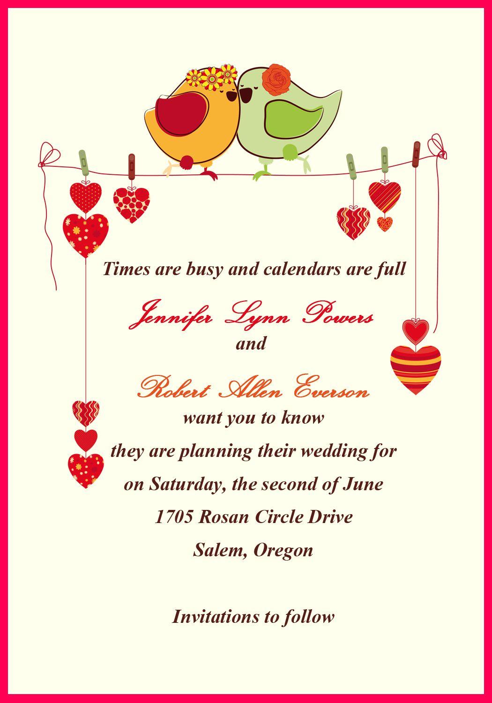 Personal Wedding Invitation Letter