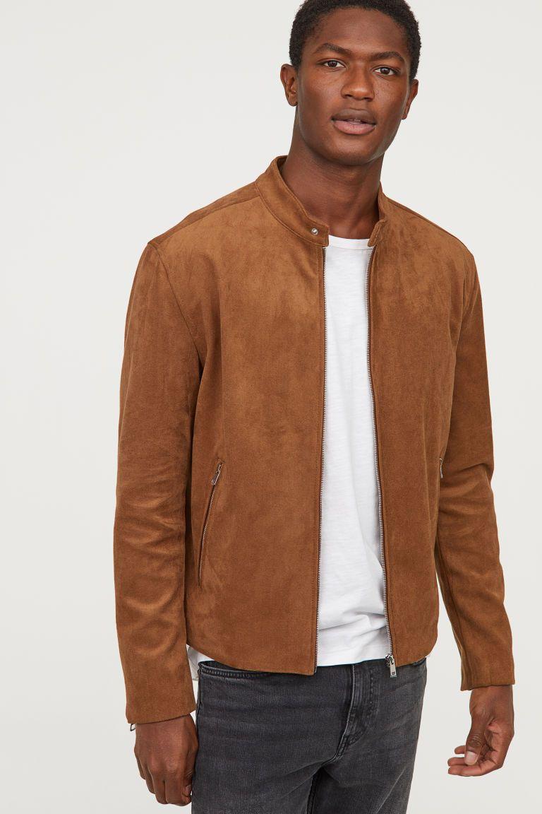Faux Suede Jacket Brown Men H M Us Suede Jacket Men Brown Suede Jacket Mens Suede Jacket [ 1152 x 768 Pixel ]