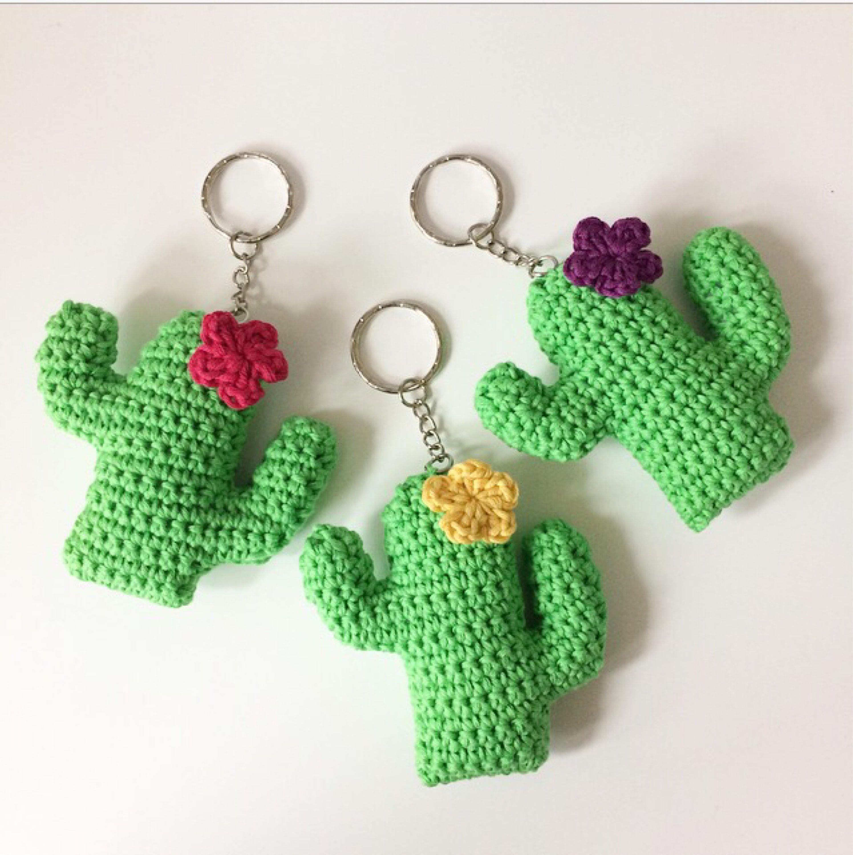 Crochet Cactus Bunting Pdf Pattern Cactus Keychain Pdf | crochet ...