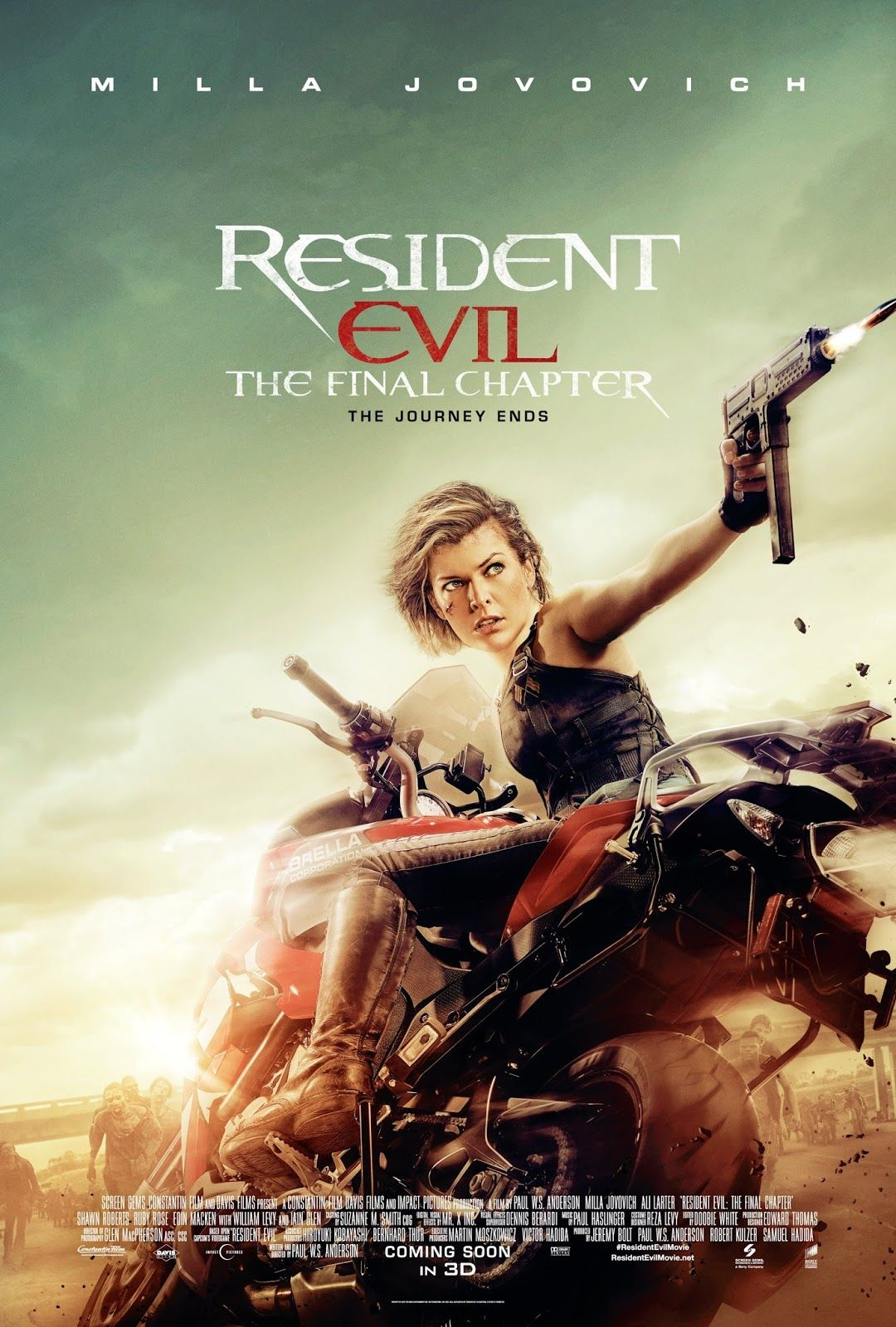 Title Resident Evil The Final Chapter Writer/ Director