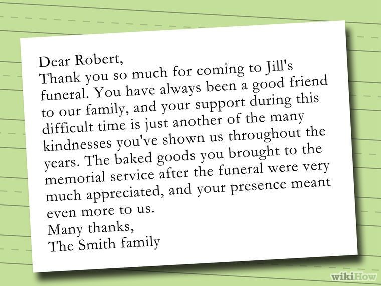 Write A Thank You Note After A Funeral  Funeral Note And Cards