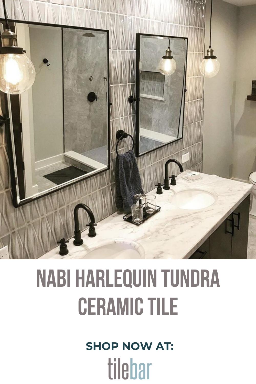 Nabi Harlequin Tundra Ceramic Tile In 2020 Bathroom Wall Tile Design Bathroom Wall Tile Polished Bathroom