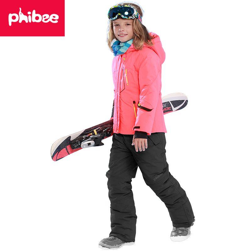 Phibee Winter Warm Waterproof Windproof Kids Snowboard Jacket Outdoor Boys  Ski Suit suitable -20-30 degree for boy  Affiliate 681292162