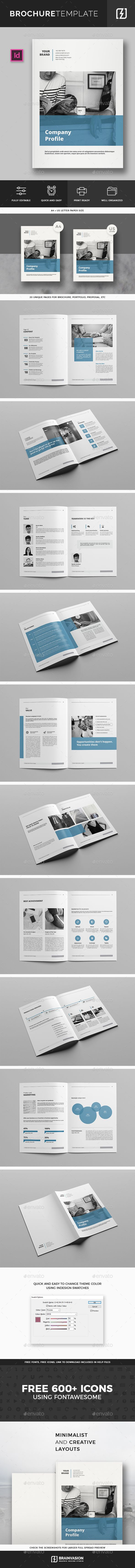 Company Profile Brochure Template | Grafikdesign und Katalog