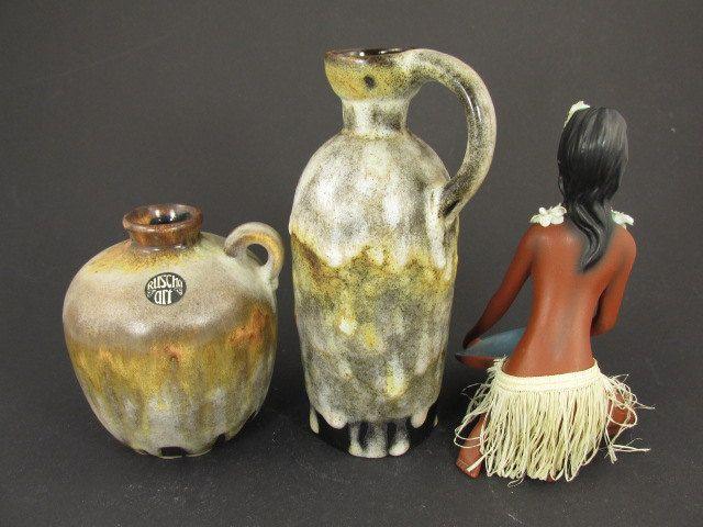 Vintage Keramik-Set (zwei Vasen) / Ruscha (art) / Modell 321 und 384   West German Pottery   60er von ShabbRockRepublic auf Etsy
