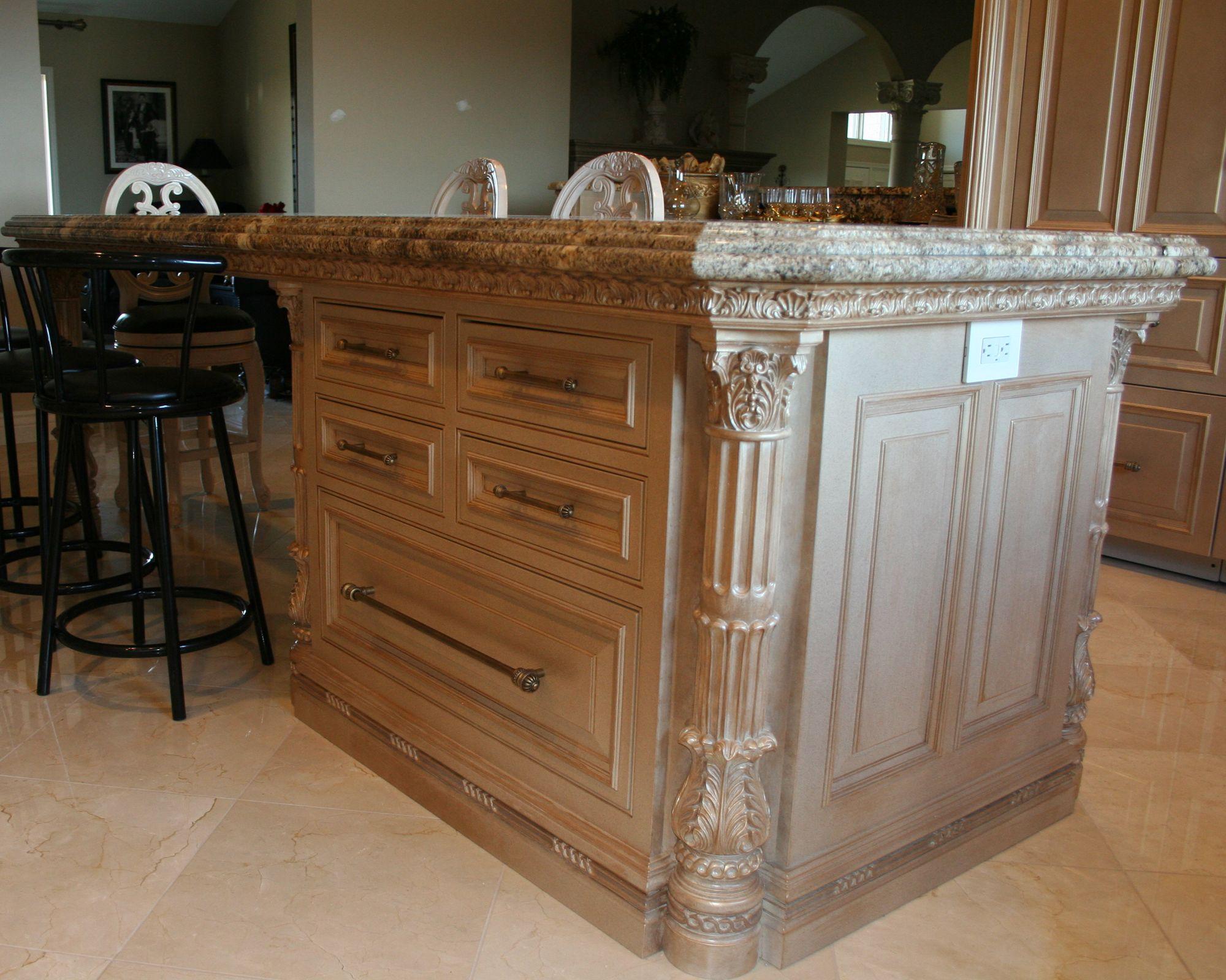 ornate kitchen cabinets | Island Cabinet | Lantz Custom Woodworking ...