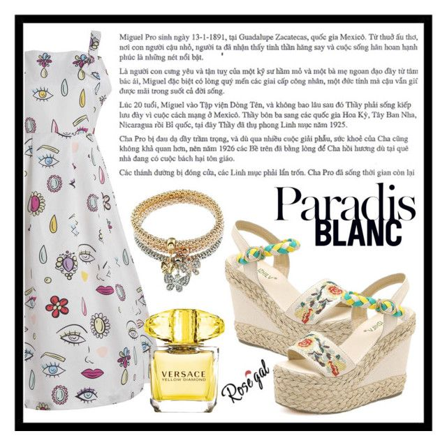 """Paradis Blanc"" by amra-sarajlic ❤ liked on Polyvore featuring Versace and vintage"