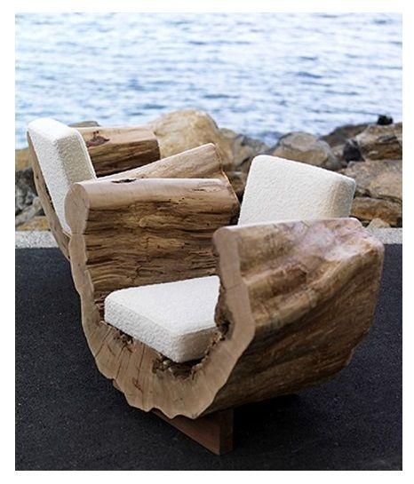 Reclaimed Wood U0027Cocoon Chairsu0027 By Andre Joyau. #plocomiUpcycle