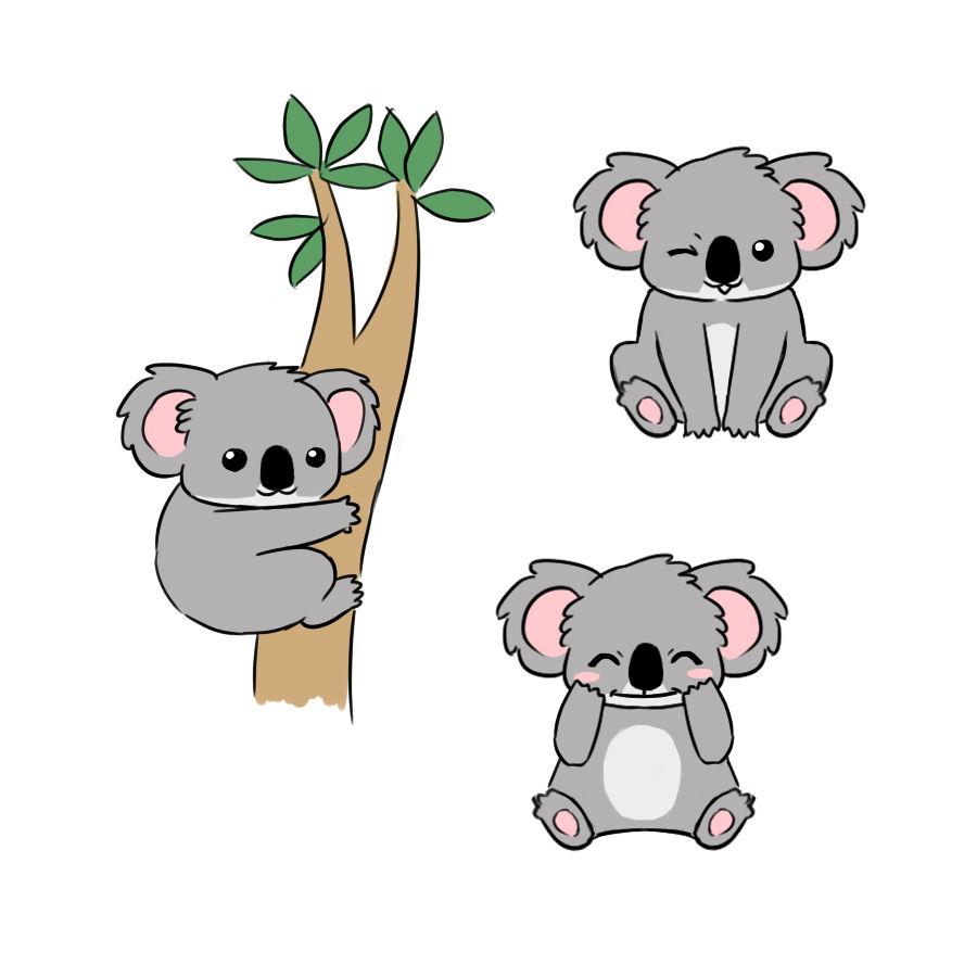 Entry 46 By Sirckun For Draw Illustrate Animate Cartoon Koala Koala Drawing Cute Cartoon Drawings Koala Illustration