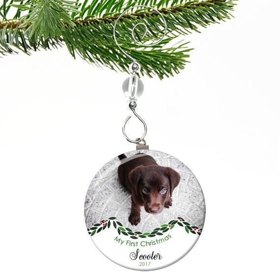 Dogs First Christmas Ornament.Dogs First Christmas Ornament Puppys First Christmas