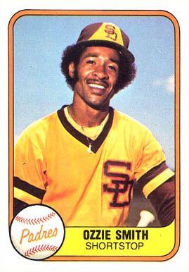 1981 Fleer Ozzie Smith 488 Baseball Card Value Price Guide Baseball Card Values Baseball Cards Baseball