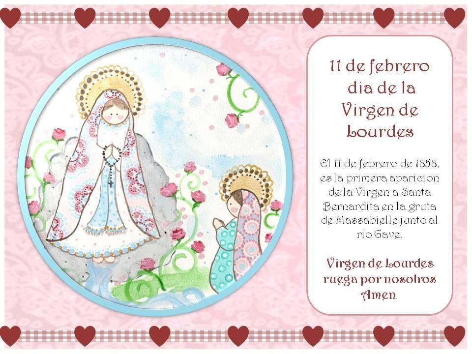 Dia De La Virgen De Lourdes: Recordatorio Del Día De La Virgen De Lourdes.-