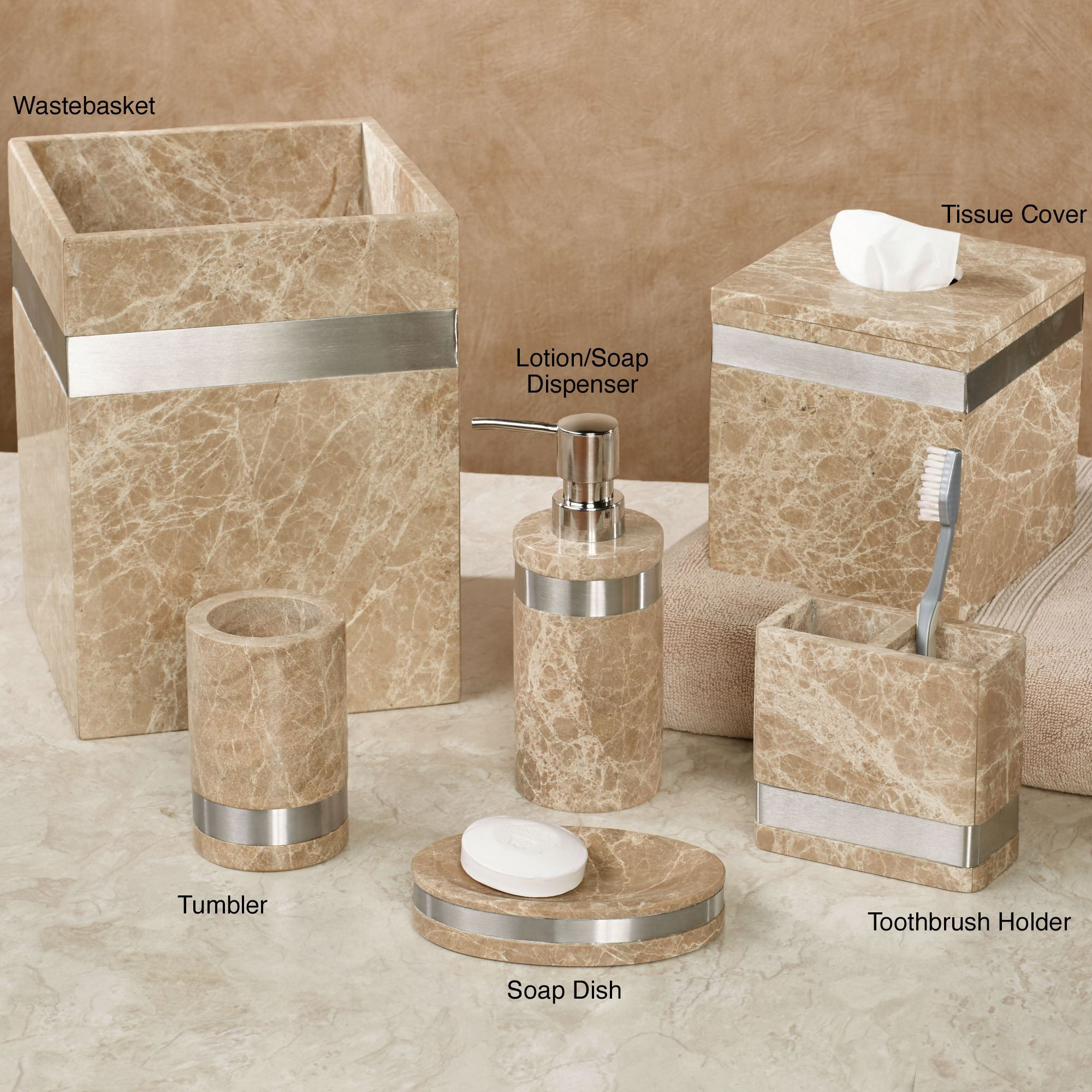 Marbella Marble Bath Accessories With
