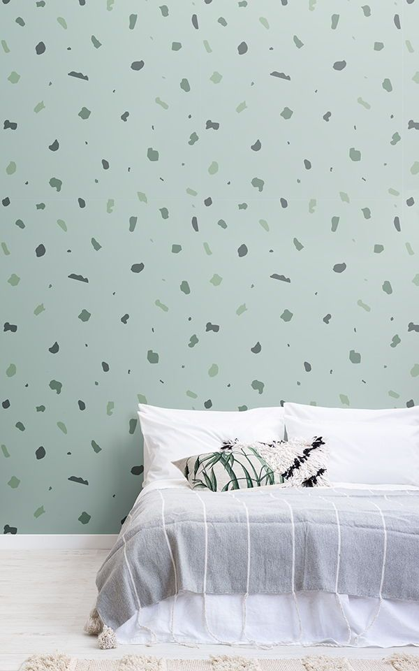 Grüne Terrazzo Tapete Pinterest Bedroom wallpaper designs