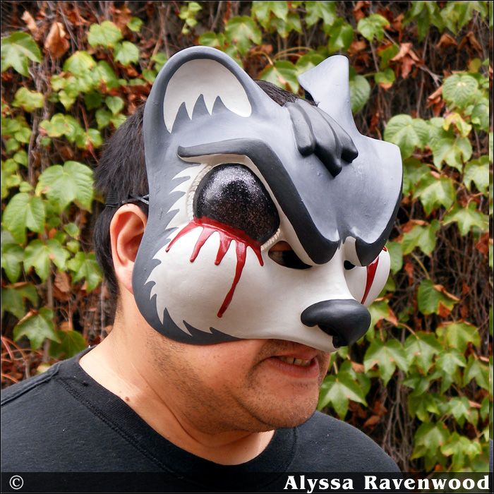 Road Kill Squirrel Halloween Mask by Ravenwood Masks