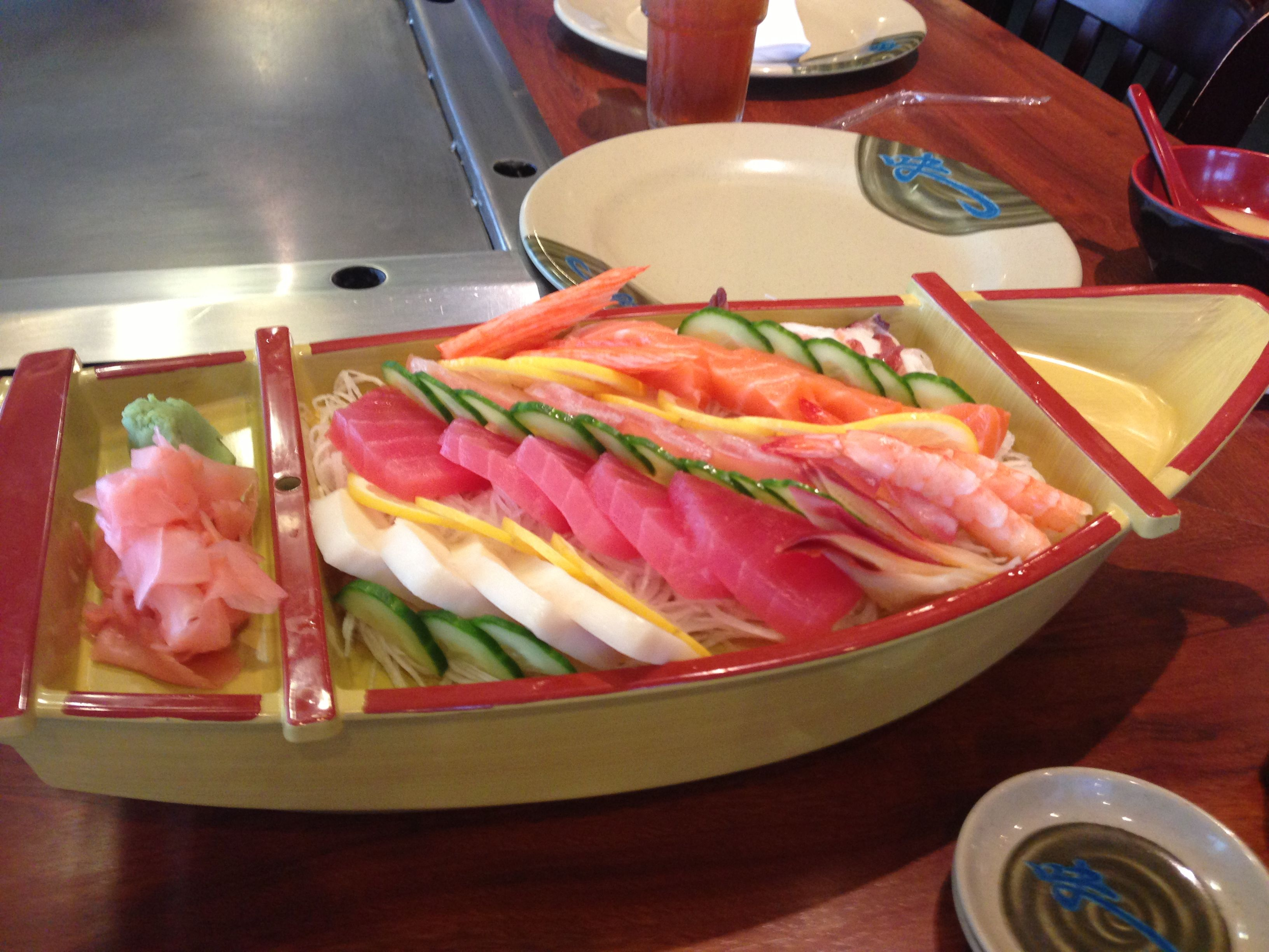From Winchester Va What A Sushi Boat And It Tasted As Good Looks