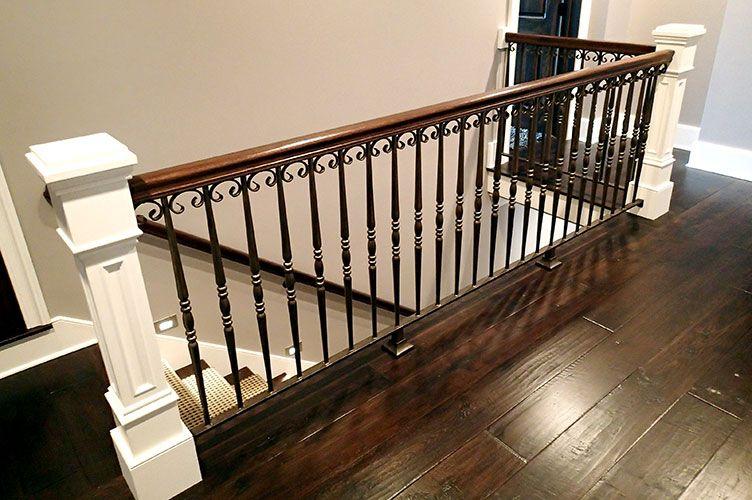 Best Elegant Iron Studios Open Basement Stairs Interior 640 x 480