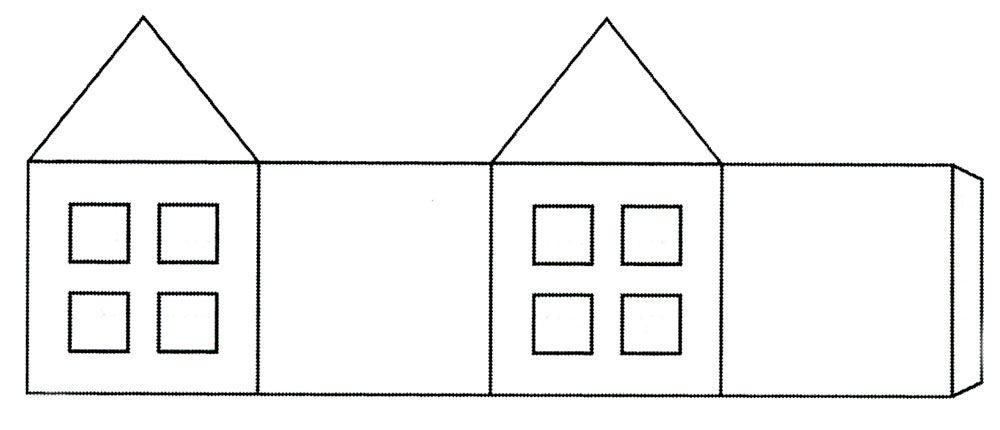 Домик из картона своими руками шаблоны, символика картинки