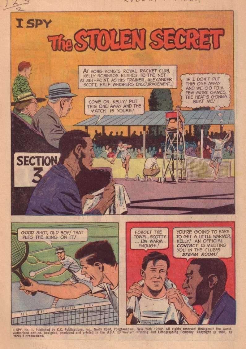 Page 1 of Gold Key Comics\' ISpy #1 \