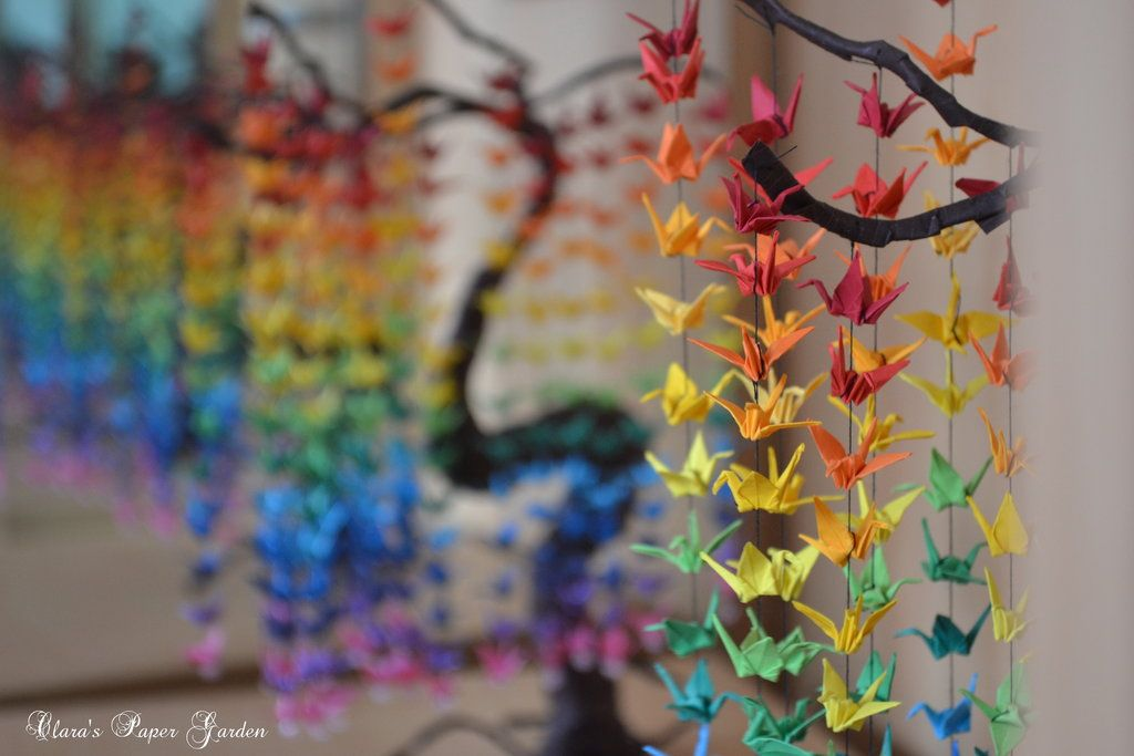Guide On How To Create A Colorful Rainbow Diy Crane Curtain Video