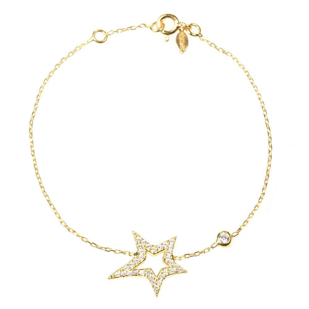 22ct gold vermeil star bracelet Designer Jewellery Gold