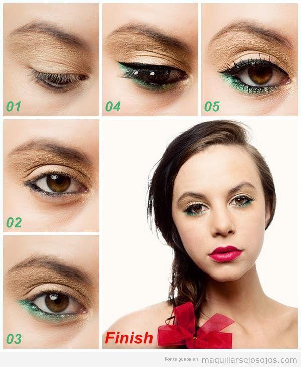 maquillaje para ojos pequeños y marrones