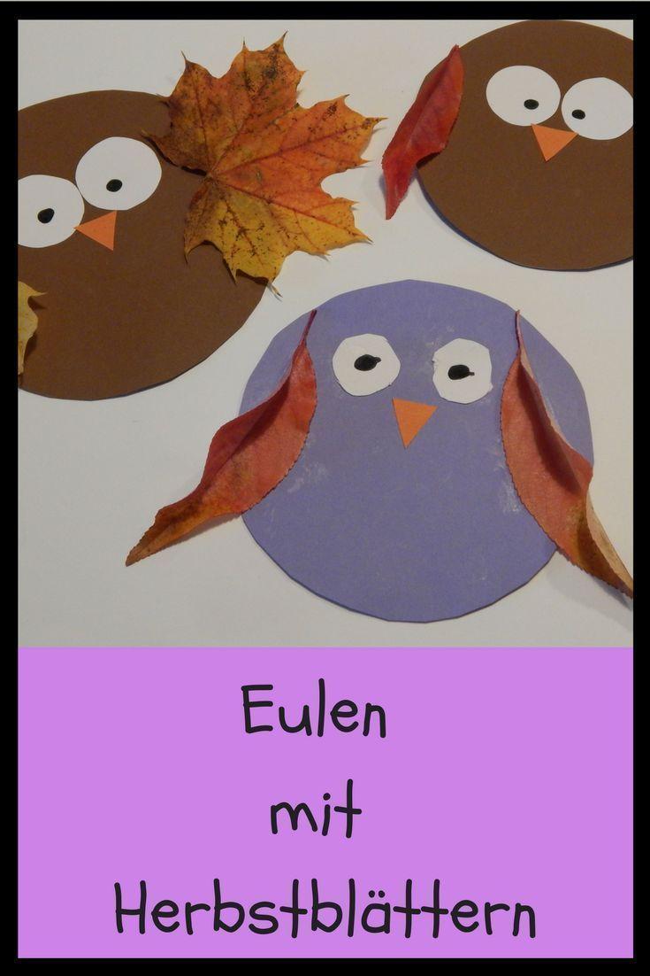 Naturbasteln: Herbst-Eulen für Kinder