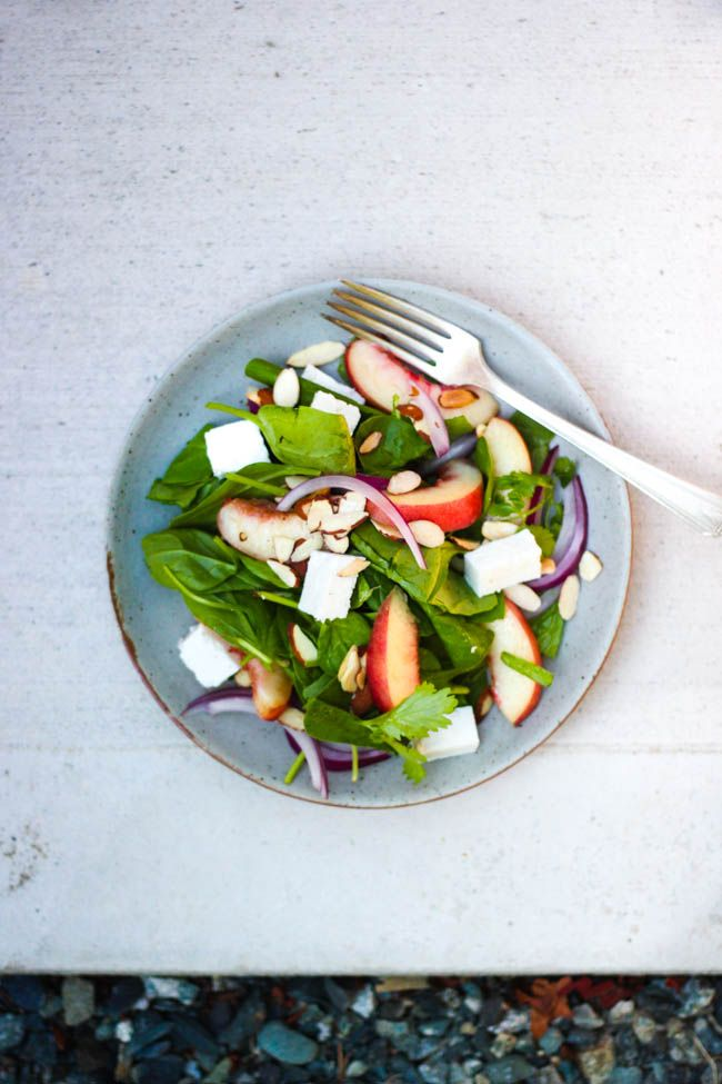 Nectarine and Almond Salad with Lime Vinaigrette Recipe