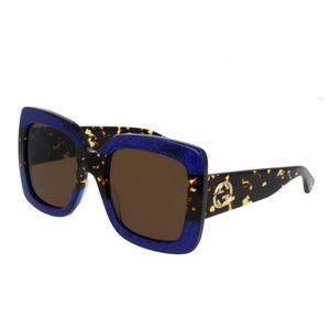a10217128cb Gucci NEW Gucci 0083S GG0083S Blue Havana Oversized Square Sunglasses