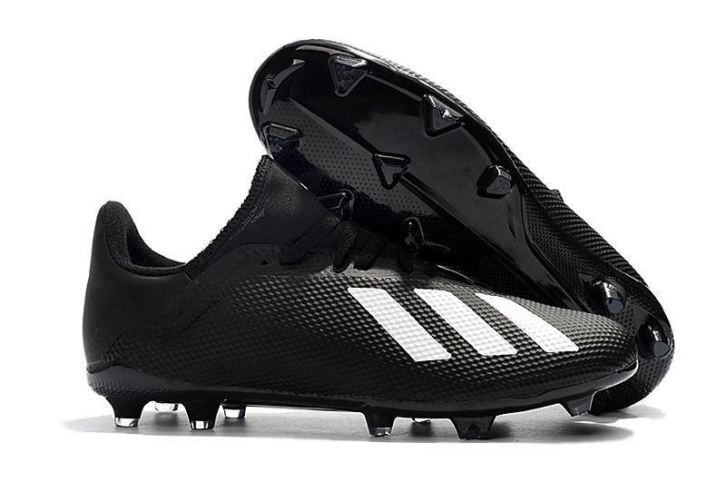 separation shoes 01fac df449 Classic Adidas X 18.3 FG Soccer Cleats - Black White