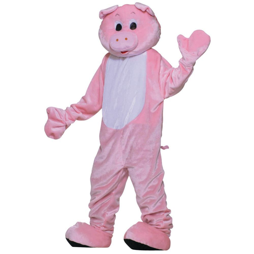 Adults deluxe pig mascot costume mascot costumes pig