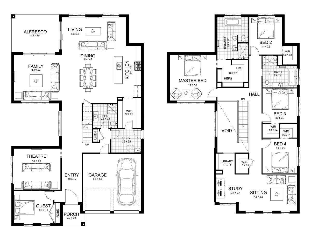 New Home Construction Plans melody 43 - double level - floorplankurmond homes - new home