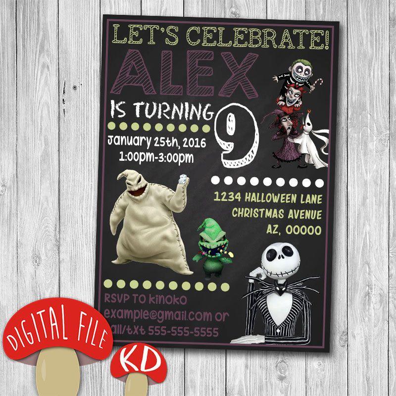Printable Nightmare Before Christmas Invitation birthday