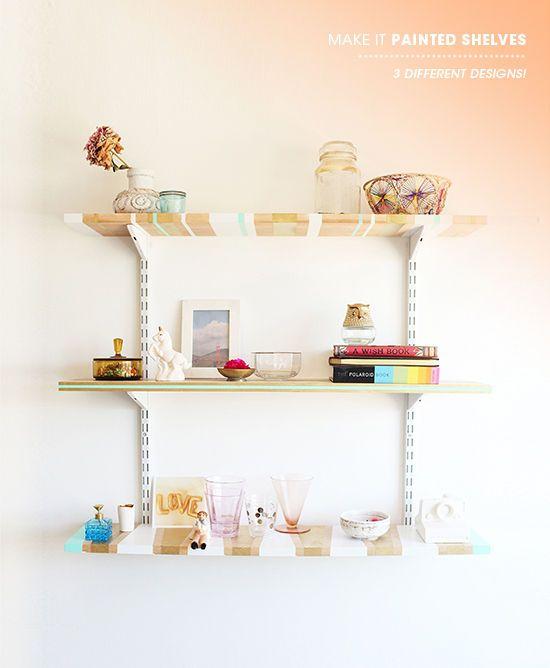 3m Blue Tape Painted Shelves Make It 15 Diy Projects Shelves Floating Shelves Diy Shelves