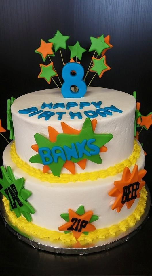 Laser Tag Cake Birthday Cakes Pinterest Laser Tag Party